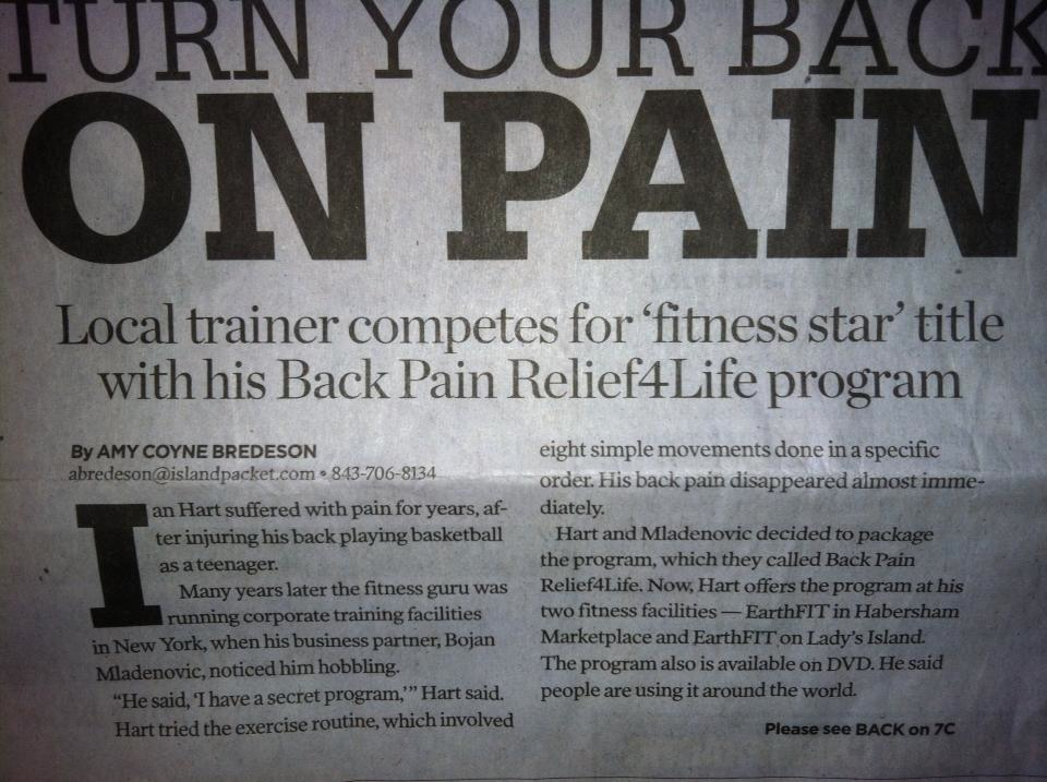 gazettebackpain2 The Quest For The Best Fitness Star (Beaufort Personal Trainer, EarthFIT)