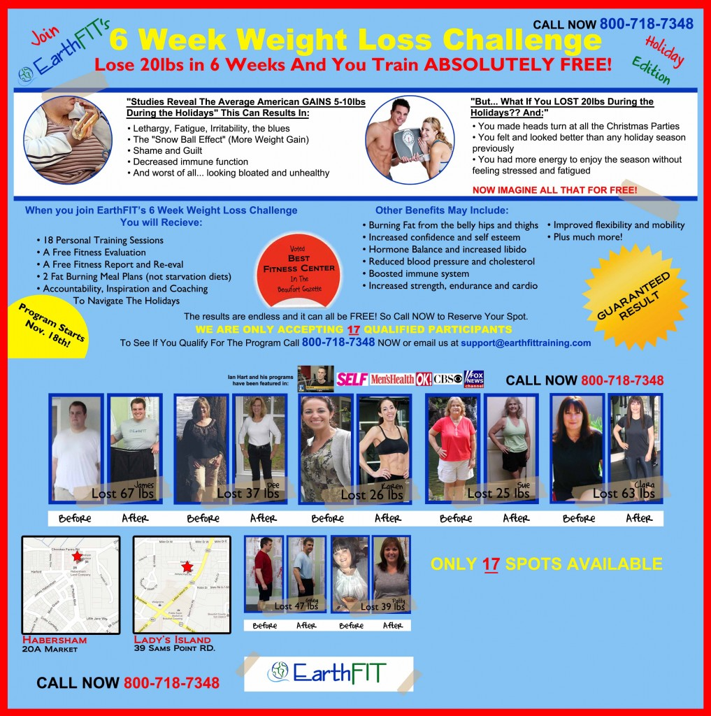 6 Week Weight Loss Challenge (Beaufort Personal Trainer)