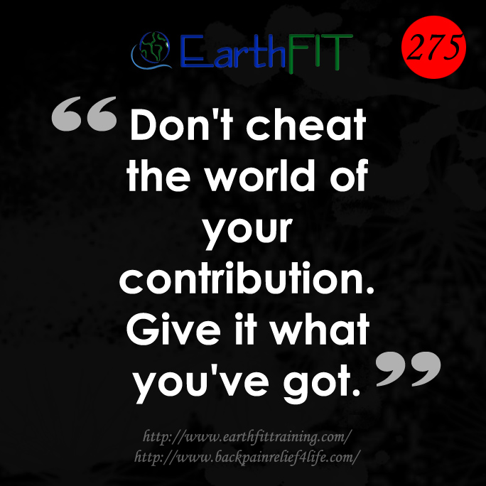 275 EarthFIT Quote of the Day