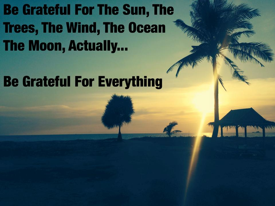 EarthFIT Quote of the Day: Be Grateful For Everything