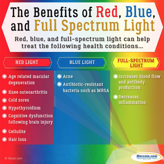 Red, Blue, Full Spectrum Light